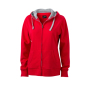 Ladies' Lifestyle Zip-Hoody rood/heather grijs