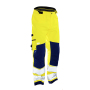 2263 Shell trousers hi-vis yellow/navy s