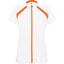Dames-fietsshirt korte mouwen white / orange l