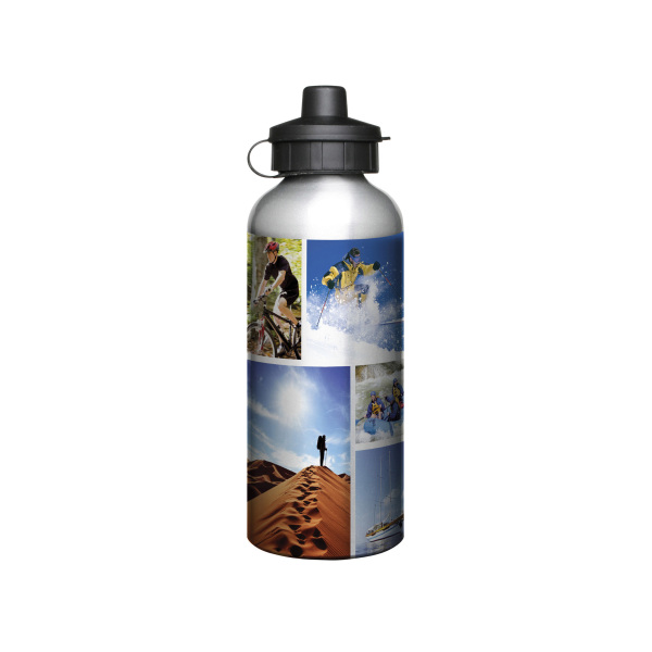 Aluminium 600ml Silver Drink Bottle