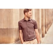 Men's short-sleeved fitted shirt