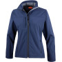 Ladies classic soft shell jacket navy l