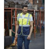 Top cool - hi-vis mesh executive waistcoat