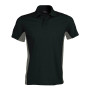 Flag - tweekleurige polo black / slate grey xl