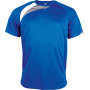 Kindersportshirt sporty royal blue / white / storm grey 12/14