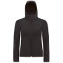 Hooded softshell women black xs
