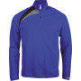 Trainingsweater met ritskraag sporty royal blue / black / storm grey xxl