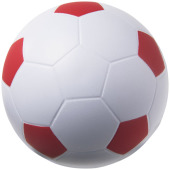 Football anti-stress bal - Wit,Rood