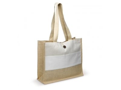 Shopper jute/juco/canvas