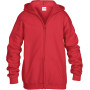 Heavy blend™classic fit youth full zip hooded sweatshirt red 7/8 (m)