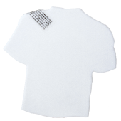 T-shirt mintdispenser wit met ca. 8 gr. mintjes en ingredienten label. TAMPONDRUK