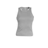 Angelina - dames racerback light grey s