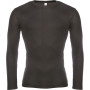 Heren thermoshirt met lange mouwen black xl