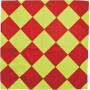 Checkered flag yellow / red 43 x 43 cm