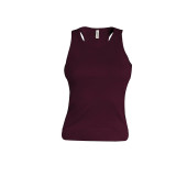 Angelina - dames racerback plum xl