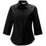 Ladies' 3/4 sleeve easy care fitted shirt black m
