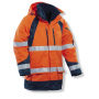 1254 Winter parkas HV Orange/Navy xxl