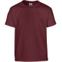 Heavy cotton™ classic fit youth t-shirt maroon (x72) 5/6 (s)