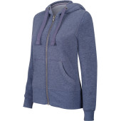 Ladies' melange full zip hooded sweatshirt