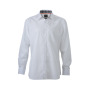 Men's Plain Shirt wit/zwart-wit