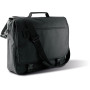 Flap over document bag black 40 x 34 x 10 cm