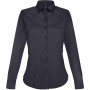 Dames stretch blouse lange mouwen navy m