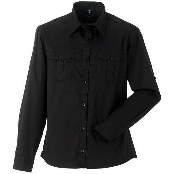Men's roll sleeve twill shirt - long-sleeved