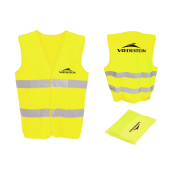 Safety jacket  Vredestein with pouch -  yellow