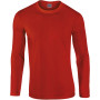 Softstyle® euro fit adult long sleeve t-shirt red xl