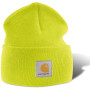 Acrylic watch hat bright lime one size