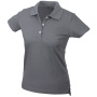 Ladies' Elastic Piqué Polo middengrijs
