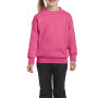 Gildan Sweater Crewneck HeavyBlend for kids safety pink S