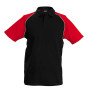 Kinderbaseballpolo black / red 10/12