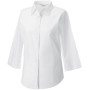 Ladies' 3/4 sleeve easy care fitted shirt white l