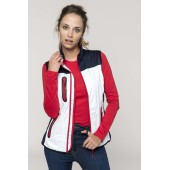 Ladies' tri-colour softshell bodywarmer