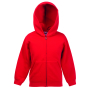 Kids Classic Hooded Sweat Jacket Red 14-15jr