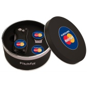 Pitchfix Cap Clip in Round tin with Pitchfix Original and 1 extra Ballmarker