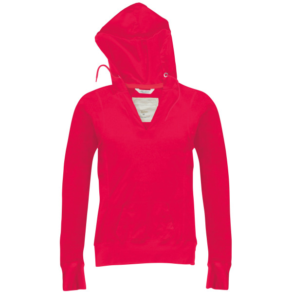 Ladies' long-sleeved hooded t-shirt