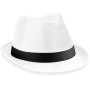 Fedora white / black s/m