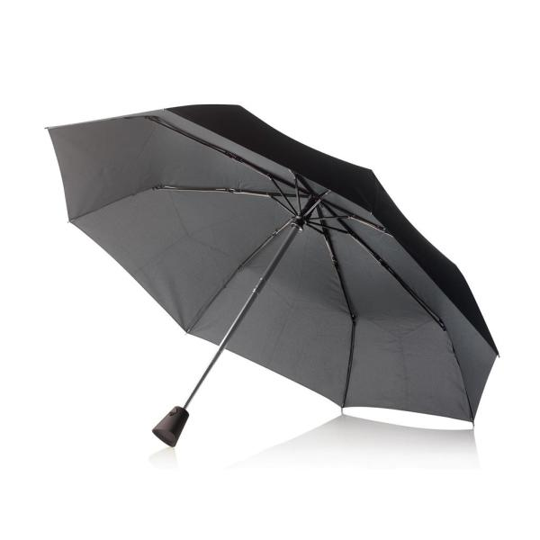 "21,5"" Brolly 2-in-1 auto open/sluit paraplu, zwart"