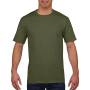 Gildan T-shirt Premium Cotton Crewneck SS for him military green 3XL