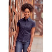 Ladies' short-sleeved twill shirt