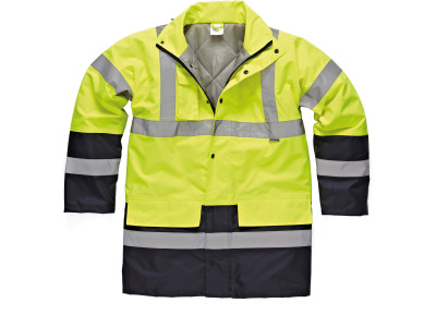 High visibility two tone parka