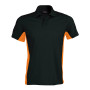 Flag - tweekleurige polo black / orange m