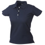 Ladies' Elastic Piqué Polo navy