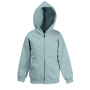 Kids Hooded Sweat Jacket (Classic) Heather Grey 5-6jr