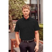 Men's short-sleeved polycotton poplin shirt