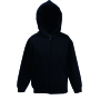 Kids Hooded Sweat Jacket (Classic) Black 5-6jr