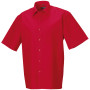 Men's ss pure cotton easy care poplin shirt classic red xl