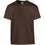 Heavy cotton™ classic fit youth t-shirt dark chocolate 7/8 (m)